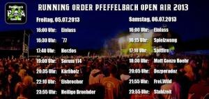 2013_Pfeffelbach_Open_Air_Festival_Running_Order